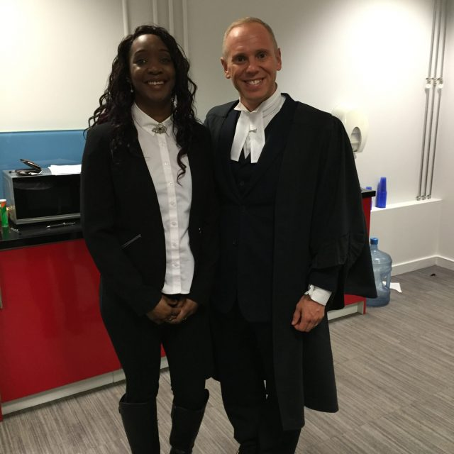 Dionne with Judge